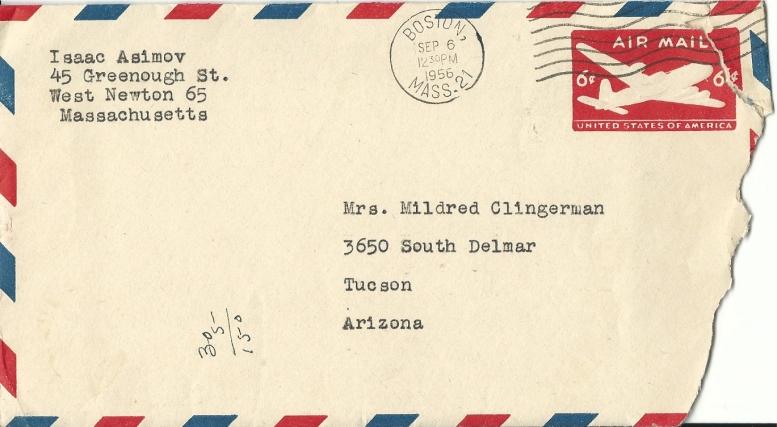 Issac Asimov envelope