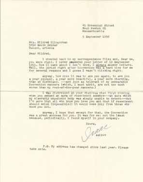 Issac Asimov letter