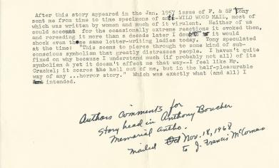 Author comments - 1968