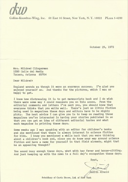 Rejection letter '73