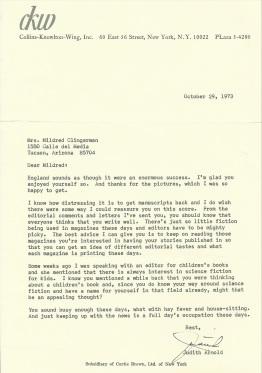 Rejection letter '73