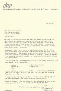 Rejection letter '74