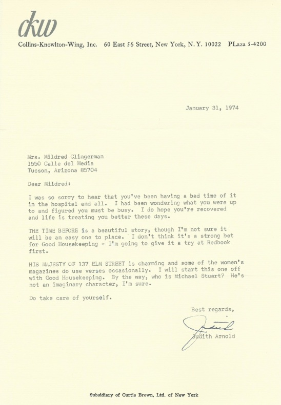 The Time Before '74 rejection